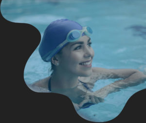 swim technique, speed and determination